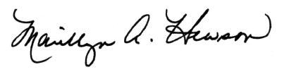 Signature of Marillyn Hewson