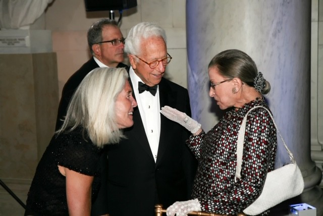 Ira and Susan Millstein with Ruth Bader Ginsburg