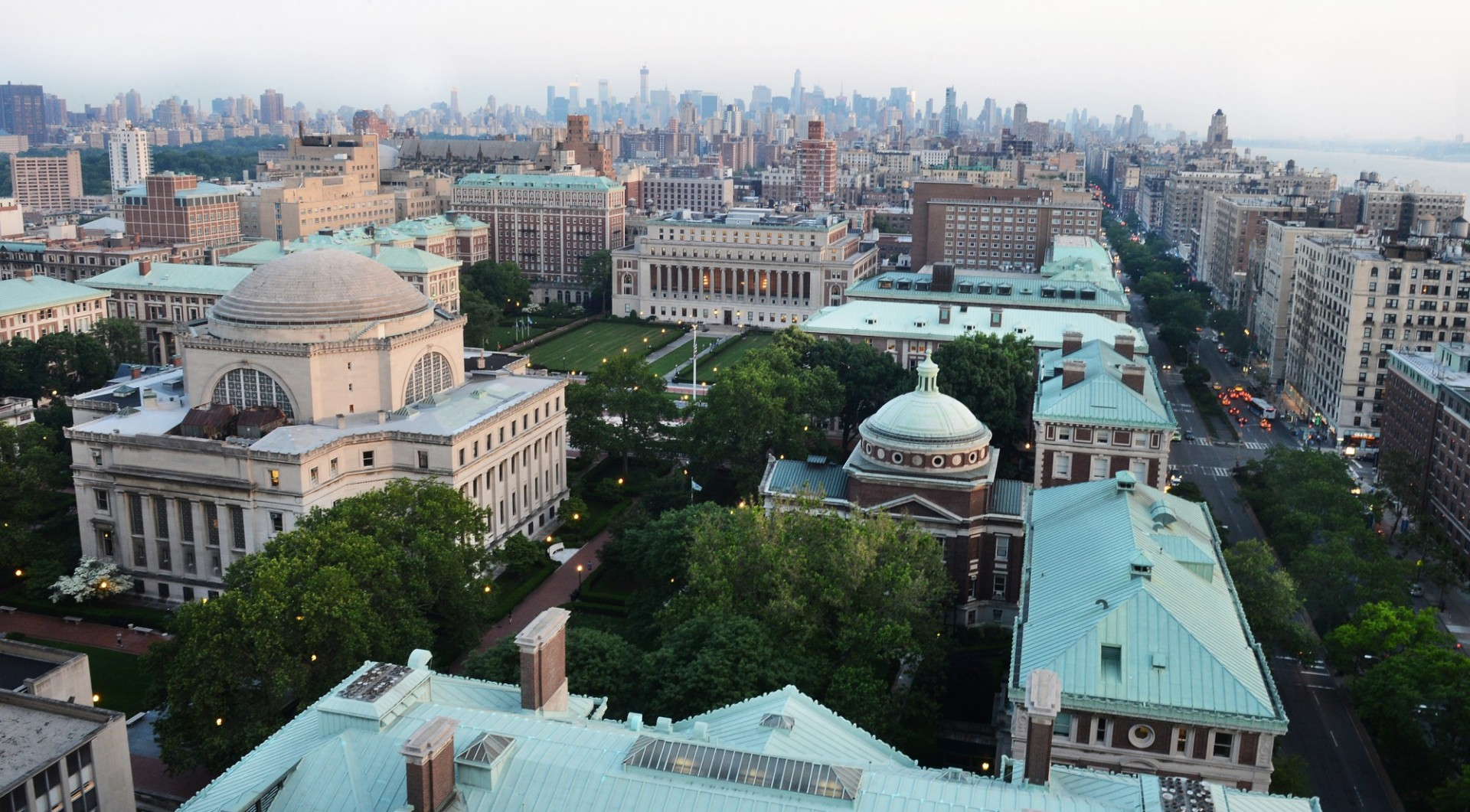 Columbia campus as seen from an aerial view