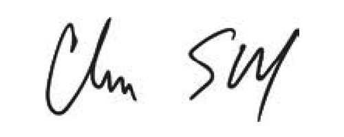 Signature of Charlie Scharf