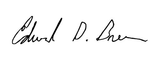 Signature of Edward Breen