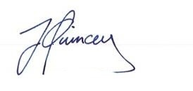 Signature of Jame Quincey