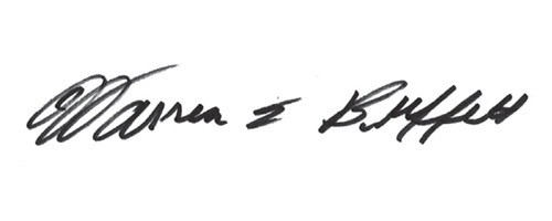 Signature of Warren Buffett