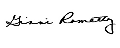 Signature of Ginni Rometty